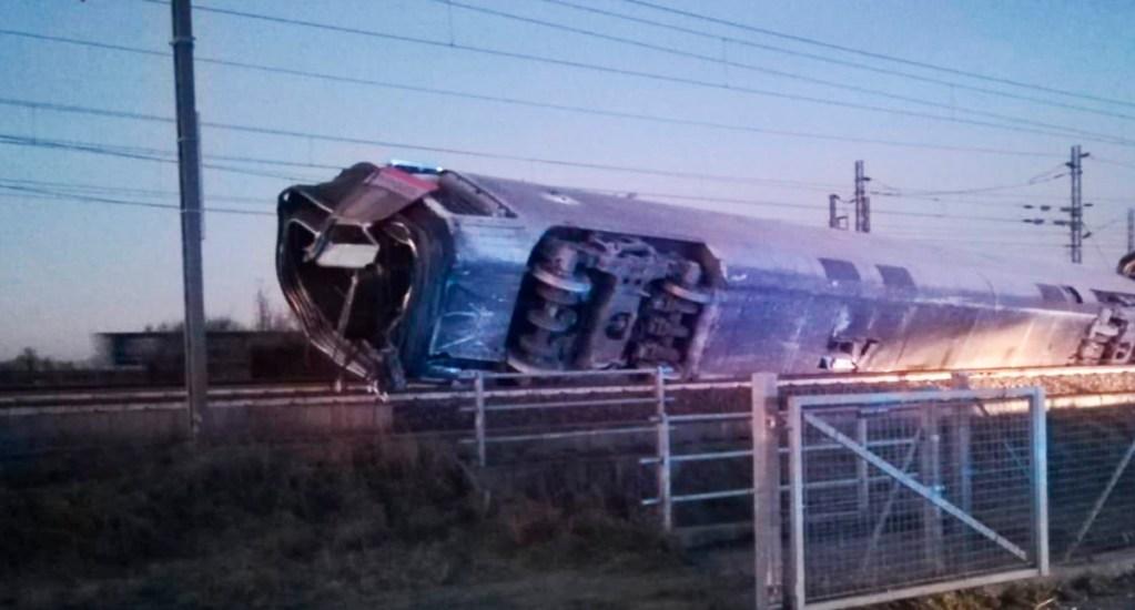 Descarrilamiento de tren en Italia deja dos muertos y 27 heridos - Descarrilamiento de tren en Italia. Foto de @emergenzavvf