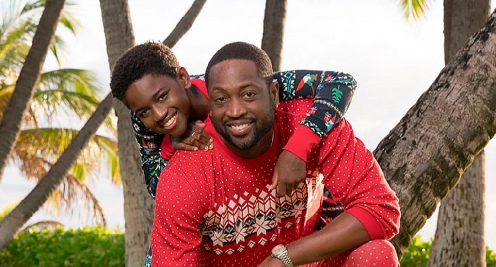 Dwyane Wade revela que su hijo adolescente se reconoce como mujer - Dwyane Wade con Zaya. Foto de @dwyanewade