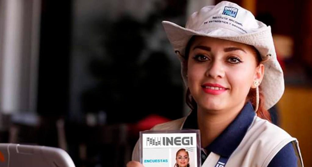 Inegi respetará #UnDíaSinNosotras durante Censo de Población y Vivienda - Encuestadora del Inegi. Foto de Inegi Informa