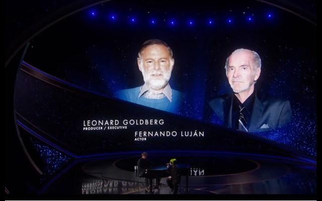 La Academia recuerda a Fernando Luján en el In Memoriam de los Óscar - Durante la edición 92 de los premios Óscar, la Academia de Hollywood rindió homenaje al actor mexicano Fernando Luján, que murió en enero de 2019. Foto de Óscars.
