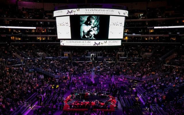 Homenaje a Kobe Bryant en el Staples Center de Los Ángeles - Homenaje a Kobe Bryant en el Staples Center de Los Ángeles