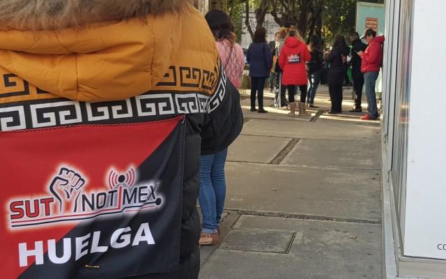 SUTNotimex responsabiliza a Sanjuana Martínez de cualquier agresión en su contra - Huelga de trabajadores de SUTNotimex. Foto de @sutnotimex