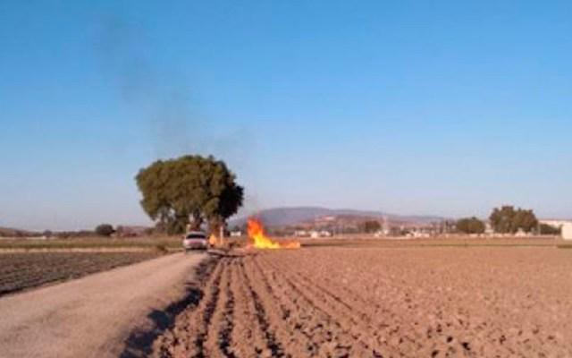 Continúan los trabajos para sellar toma clandestina en Puebla - Incendio inducido para sellar toma clandestina de Gas LP en Tepeaca. Foto de Gobierno de Puebla