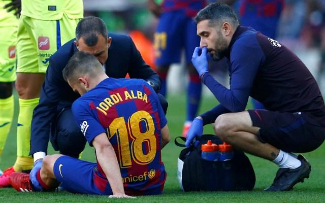 Barcelona confirma lesión de Jordi Alba - Foto de EFE