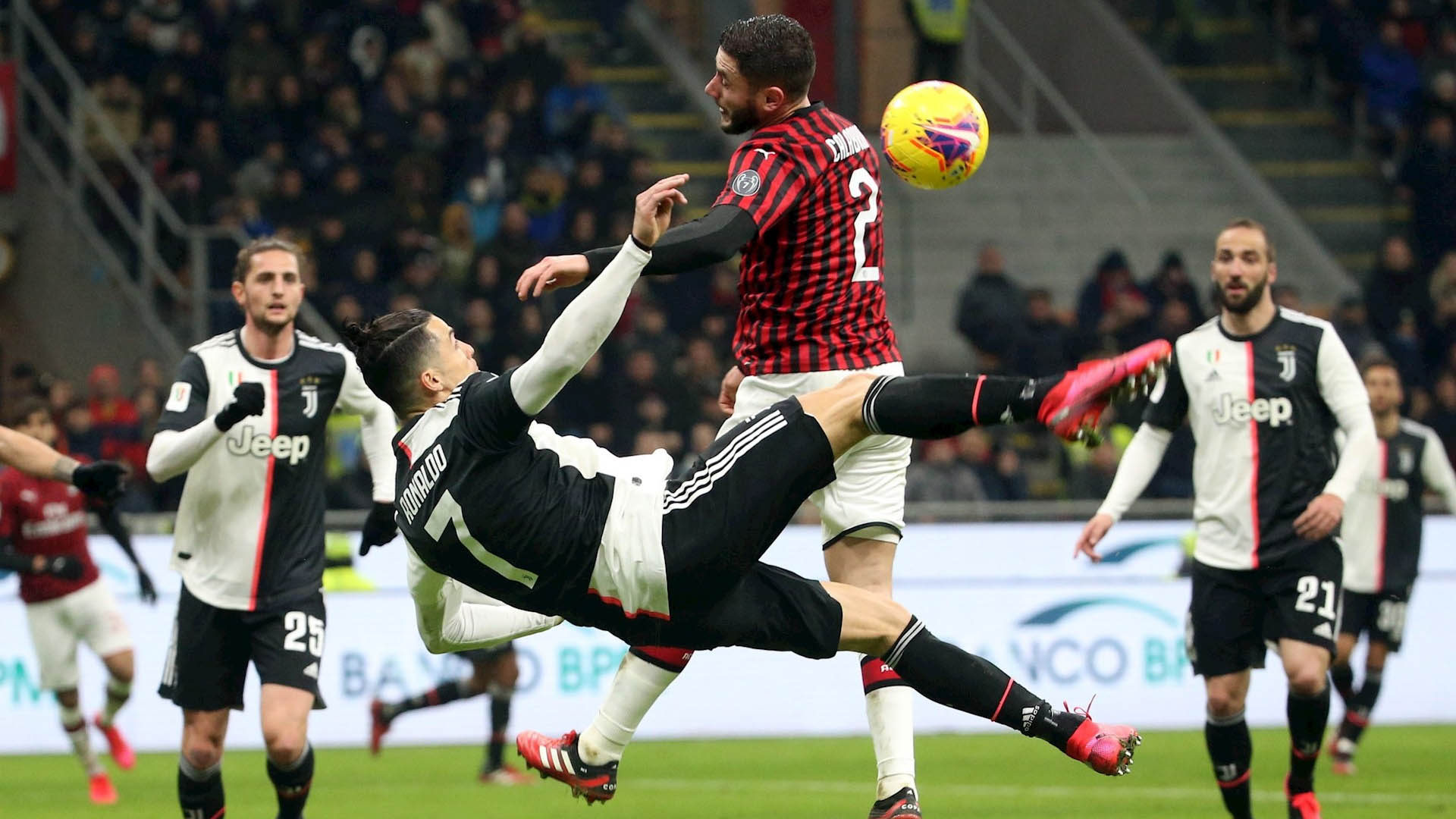 Juventus Cristiano Ronaldo futbol partido AC Milán