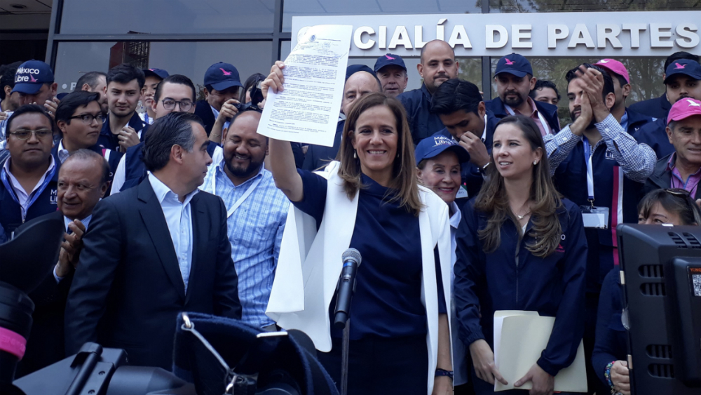 """Margarita Zavala impugnará decisión del INE contra México Libre; acusa al Gobierno Federal de """"cerrarle el paso"""" - Foto de @eduribbas"""