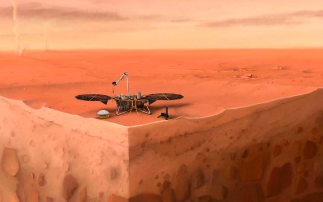 Misión InSight descubre terremotos en el planeta Marte - Misión de la NASA en Marte. Foto de IPGP / Nicolas Sarter