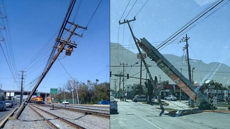 Fuertes vientos en Monterrey provocan daños - Monterrey daños vientos fuertes Nuevo León 2