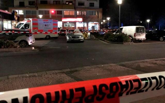 Tiroteos en bares de Alemania dejan ocho muertos - Movilización policiaca en Alemania por tiroteos en bares. Foto de hessenschau