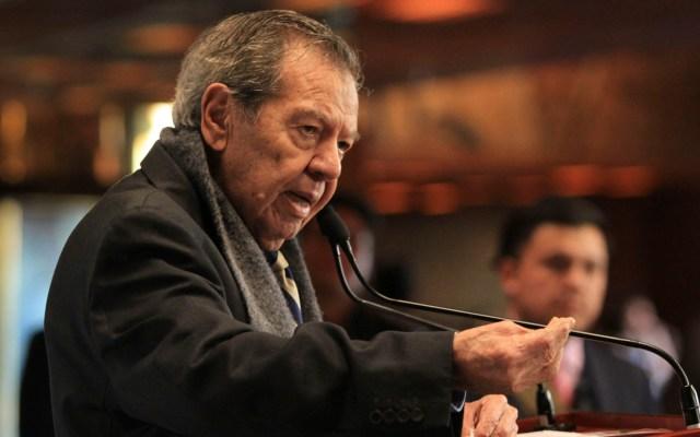 Denuncia Muñoz Ledo a Mario Delgado por uso de recursos públicos con fines partidistas - El diputado Porfirio Muñoz Ledo