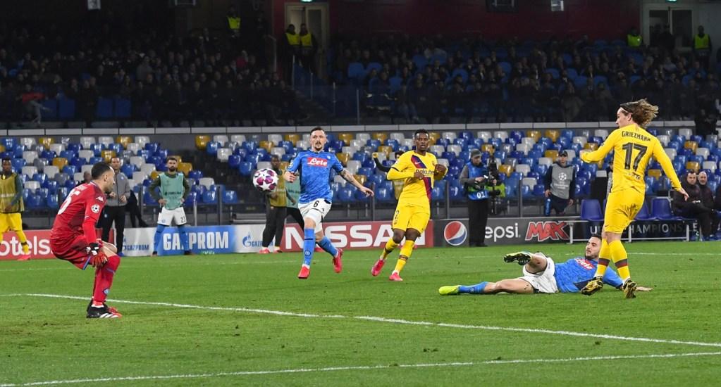 Griezmann rescata el empate para Barcelona en Champions - Griezmann rescata empate para Barcelona tras ir perdiendo contra Napoli en la Champions