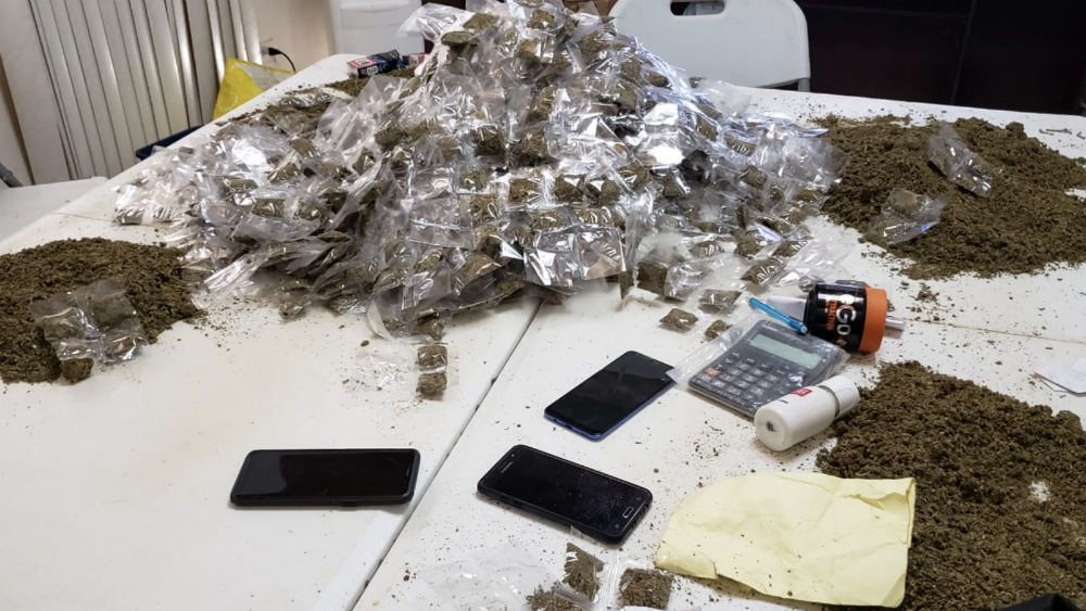 Desmantelan un laboratorio de drogas de la Mara Salvatrucha en Honduras - Foto de @PoliciaHonduras