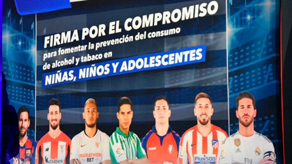 Futbolistas de La Liga se unen a campaña contra consumo de alcohol y tabaco - Futbolistas que participarán en la campaña 'No está chido'. Foto de @brendaflowersr