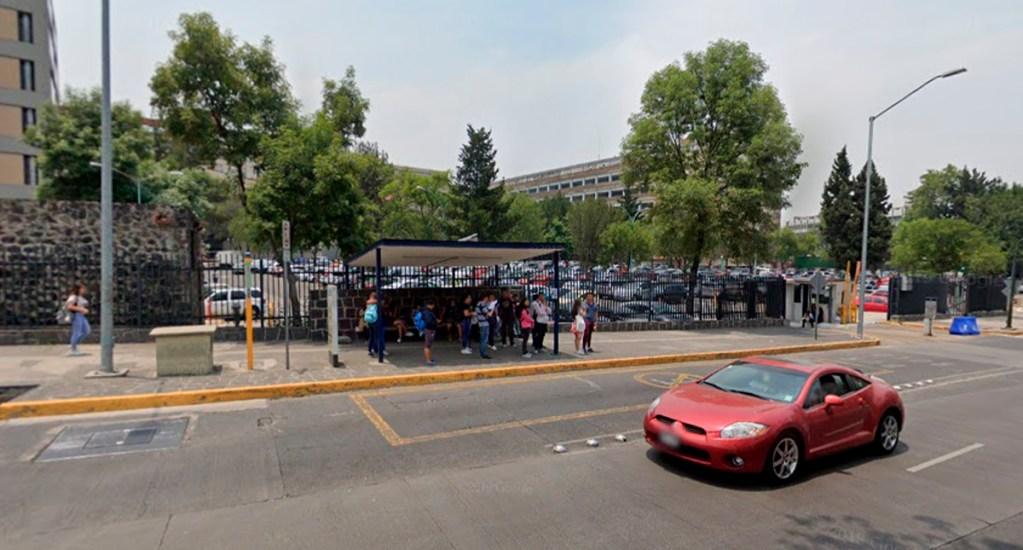 Intentan secuestrar a alumna de la UNAM en Ciudad Universitaria - Parada del Pumabús cerca de la Facultad de Química de la UNAM. Foto de Google Maps