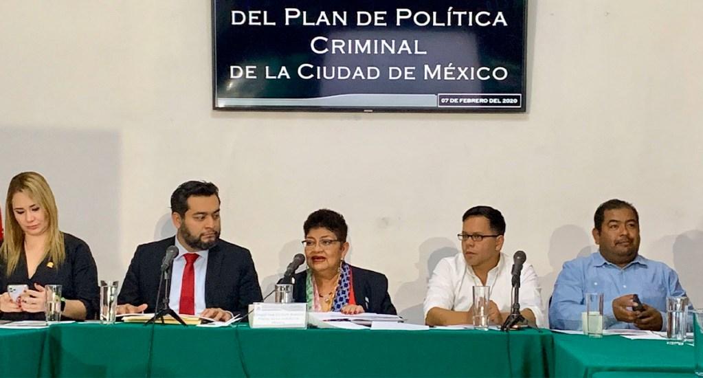 Ernestina Godoy presenta el Plan de Política Criminal de la Ciudad de México - Plan de Política Criminal de la Ciudad de México. Foto de @FiscaliaCDMX