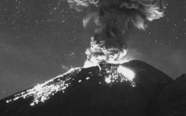 Explosión en el Popocatépetl lanza contenido moderado de ceniza - Popocatépetl explosión 14022020