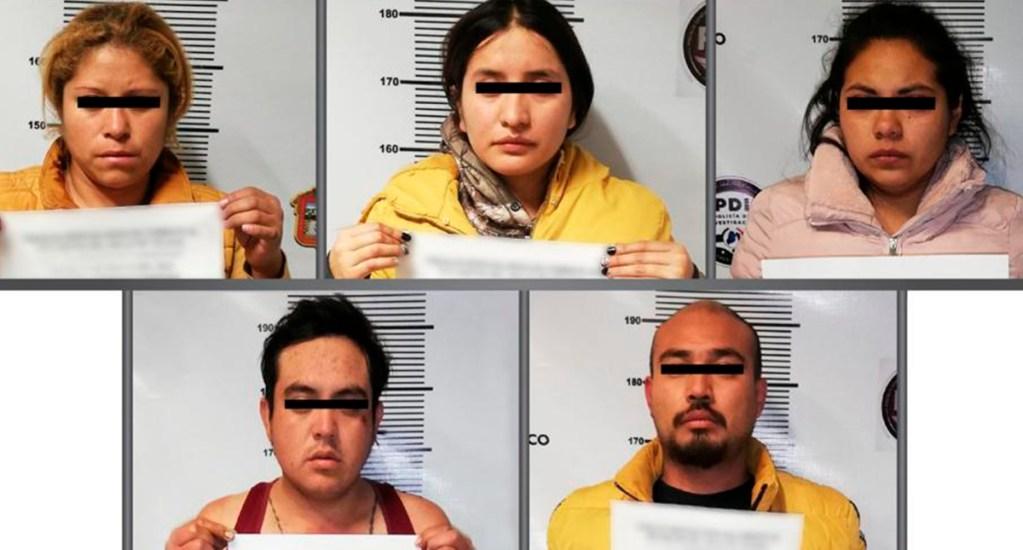 Cae banda de cinco secuestradores en Metepec, Edomex - Presuntos secuestradores detenidos en Metepec, Edomex. Foto de @FiscalEdomex