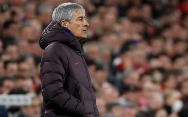 Setién aseveró que fue dolorosa la eliminación del Barcelona en la Copa del Rey - Enrique Setién. Foto de EFE
