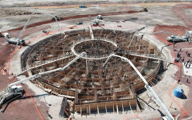 INAI ordena a SHCP hacer pública la empresa encargada de aeropuerto de Santa Lucía - En la foto, la construcción del aeropuerto de Santa Lucía. Foto de Notimex