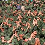 Día del Ejército Mexicano, desde el Zócalo - 200219023. Ciudad de México, 19 Feb 2020 (Notimex-Javier Lira).- En el marco de la celebración del 107 Aniversario del Día del Ejército Mexicano, militares festejan en el Zócalo capitalino al ritmo de la Sonora Dinamita. Ciudad de México, 19 de febrero de 2020. NOTIMEX/FOTO/JAVIER LIRA/JLO/POL