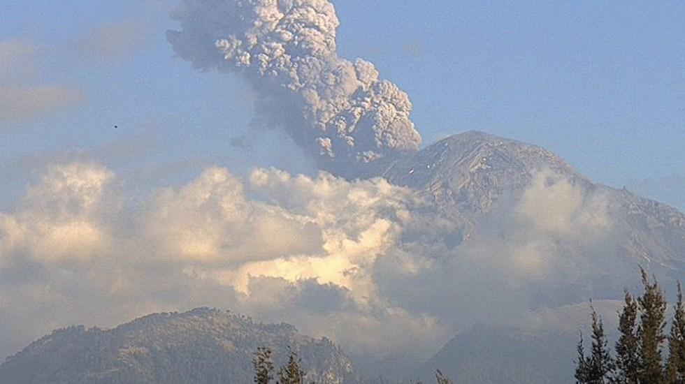 Explosión del volcán Popocatépetl alcanza mil 200 metros - Foto de Webcams de México