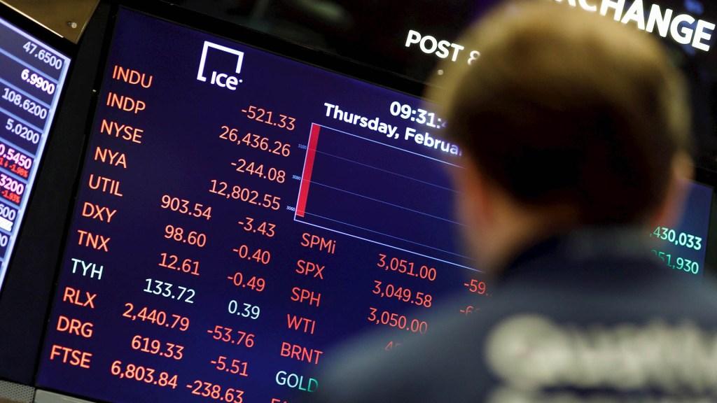 Dow Jones registra caída récord por temor a Covid-19 - Wall Street Baja Dow Jones