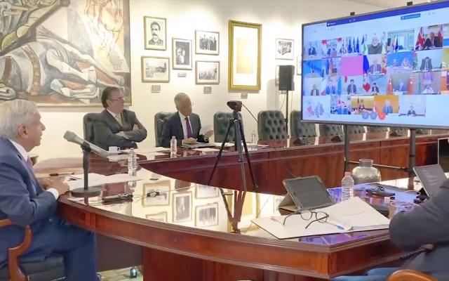 #Video La intervención de AMLO ante líderes del G20 - López Obrador ante líderes del G20. Captura de pantalla.