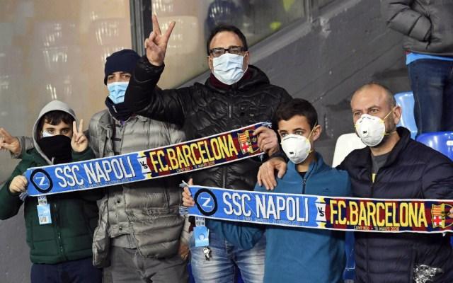 Barcelona vs Napoli de Champions se jugará a puerta cerrada - Foto de efe