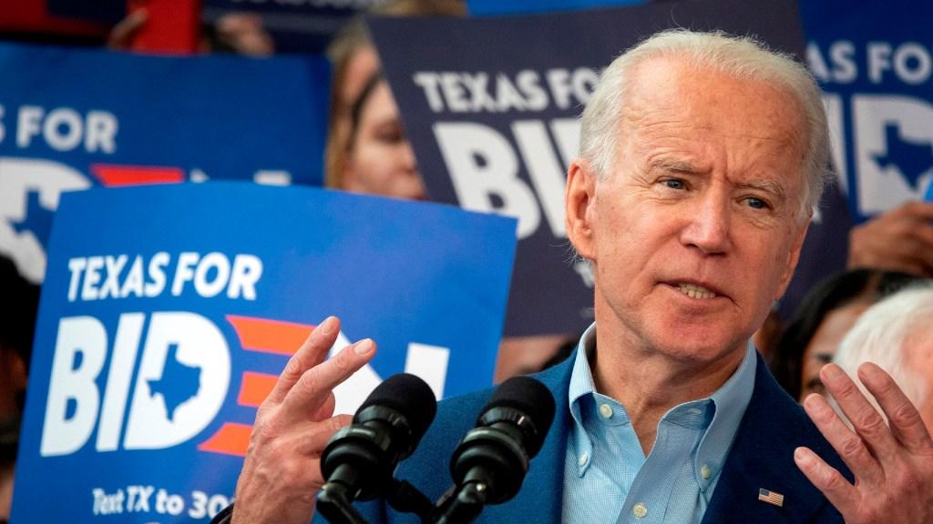 Buttigieg y Klobuchar anuncian respaldo a Joe Biden - Biden en cierre de campaña en Texas. Foto de EFE
