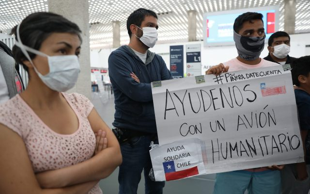 Chilenos en México piden ayuda para regresar a su país - Foto de EFE