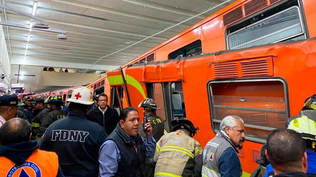 Solicitarán al Metro informe sobre accidente en estación Tacubaya - Choque metro tacubaya