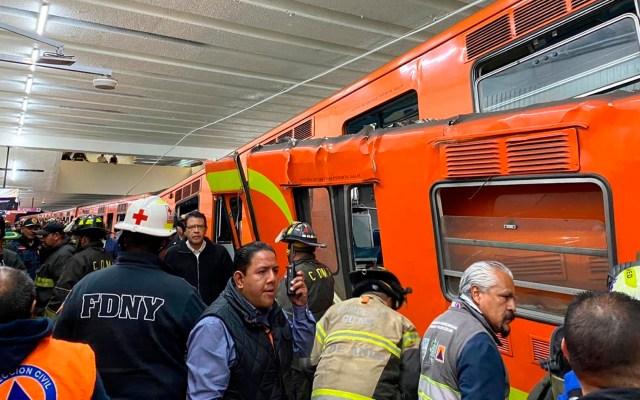 Detienen a dos presuntos responsables por choque de trenes en Metro Tacubaya - Choque metro tacubaya