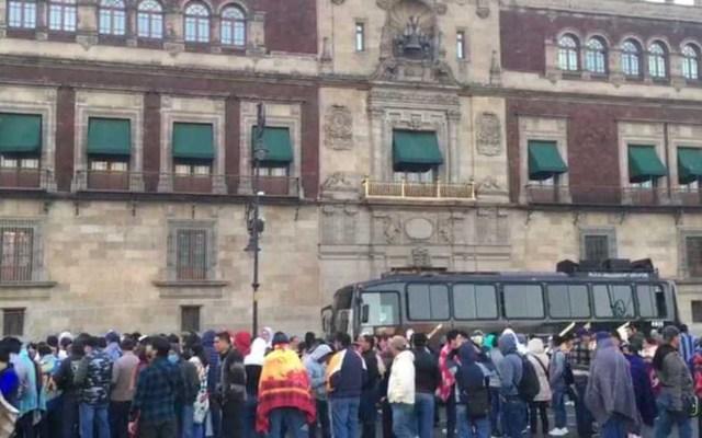 CNTE acude a encuentro con AMLO en Palacio Nacional - Foto de Milenio