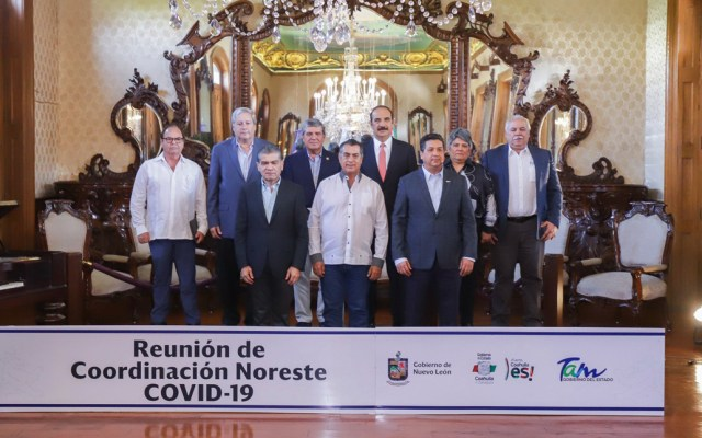 Coahuila, Nuevo León y Tamaulipas presentan estrategia conjunta contra COVID-19 - Los mandatarios estatales solicitaron al Gobierno Federal recursos extraordinarios provenientes del Fondo de Desastres Naturales