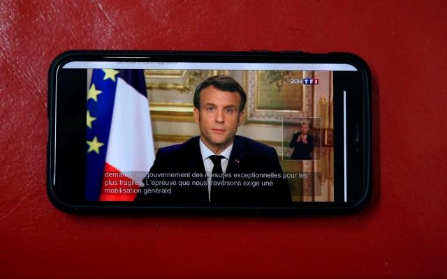 Macron ordena cierre de guarderías, colegios y universidades por COVID-19 - macron coronavirus covid-19 francia