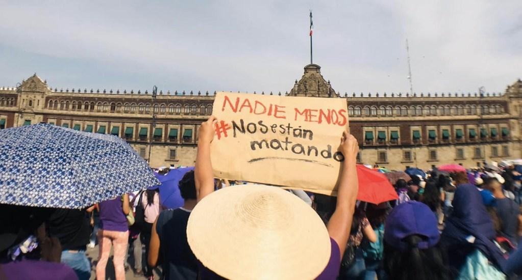 Mujeres son bienvenidas al Zócalo en marcha del 8M: López Obrador - Marcha 8M feministas mujeres protesta Ciudad de México