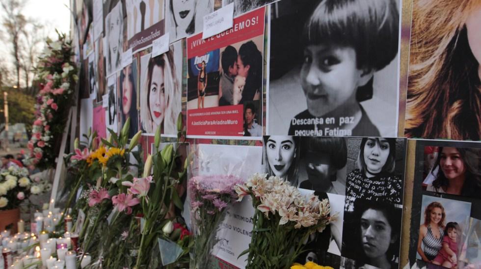 Iglesia condena el machismo que ha provocado feminicidios en México - Ofrenda en el Ángel de la Independencia a víctimas de feminicidio en México. Foto de Notimex