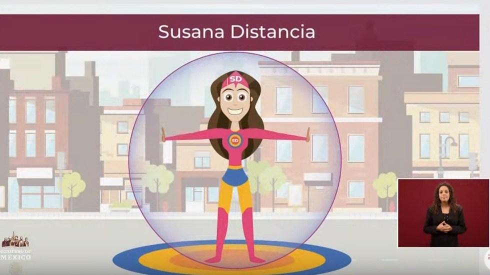 Video Secretaría de Salud presenta a 'Susana Distancia'