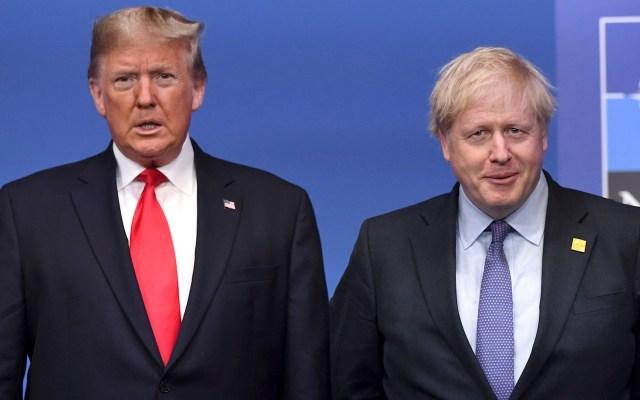 "Trump desea ""pronta recuperación"" a Johnson tras dar positivo a COVID-19 - Trump Boris Johnson covid-19 coronavirus"