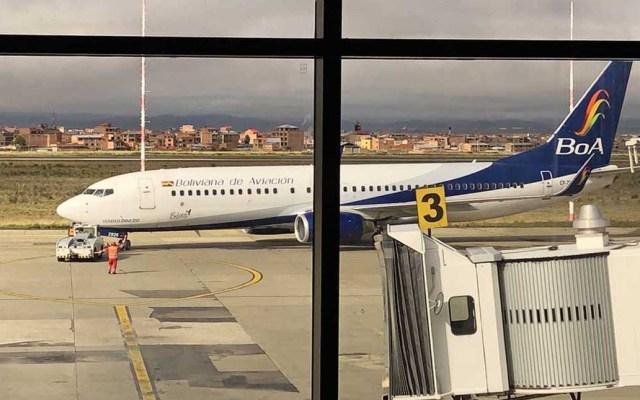 Alemania y EE.UU. planean vuelos de repatriación desde Bolivia por COVID-19 - Vuelo humanitario de repatriación desde Bolivia. Foto de @EmbEUAenBolivia