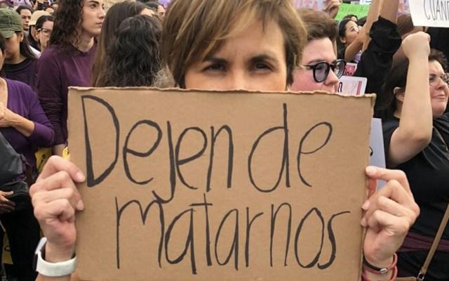 Protestan contra la violencia hacia las mujeres en Monterrey, Nuevo León - Foto: Laura Garza.