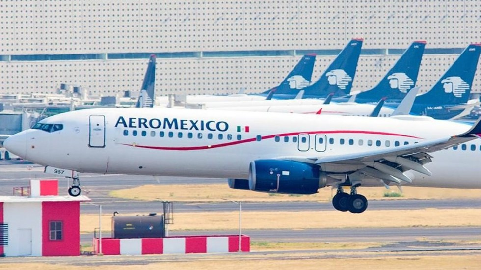 Aeroméxico tendrá vuelo para que mexicanos regresen de España por COVID-19 - Aviones de Aeroméxico. Foto de @aeromexico