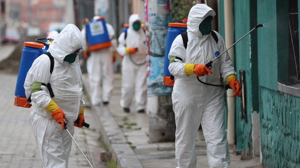 Los contagios de COVID-19 en Bolivia continúan en ascenso - Bolivia COVID-19 Coronavirus limpieza El Alto