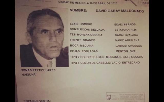 Reportan a David Garay Maldonado, exjefe de la policía de la Ciudad de México, como desaparecido - Foto de Twitter