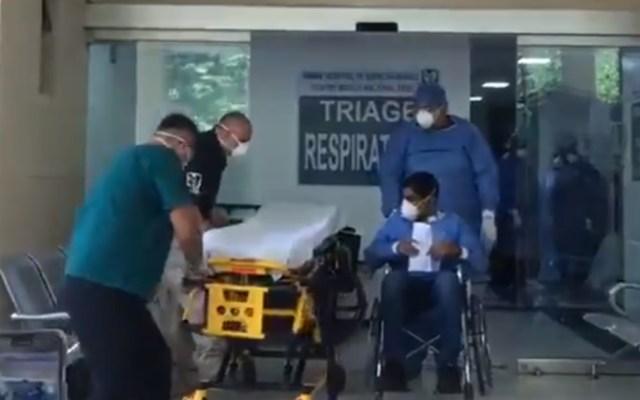 #Video Dan de alta a paciente del IMSS que superó el COVID-19 - Hospital de Especialidades del Centro Médico Nacional Siglo XXI paciente