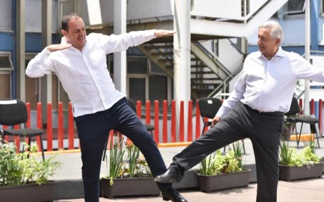 """AMLO y Cuauhtémoc Blanco hacen la """"Temo Señal"""""""