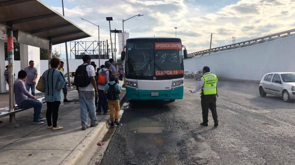 Limitarán transporte público en Nuevo León por contingencia sanitaria - Foto de @IMyANL