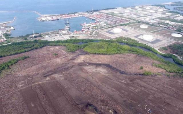Dos Bocas es un proyecto que nunca se pensó, asegura analista - Proyecto de la Refinería Dos Bocas, Tabasco. Foto presentada por SENER.