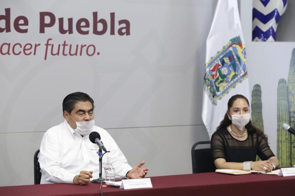 Anuncia Barbosa medidas para reactivación económica en Puebla - Foto de Twitter @MBarbosaMX