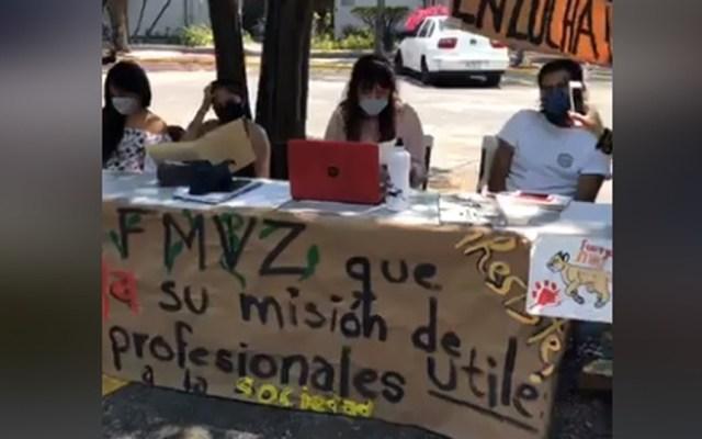 UNAM sostiene diálogo con FMVZ para reanudar actividades - Reunión con paristas de la FMVZ. Captura de pantalla / @FMVZ.UNAM.Oficial
